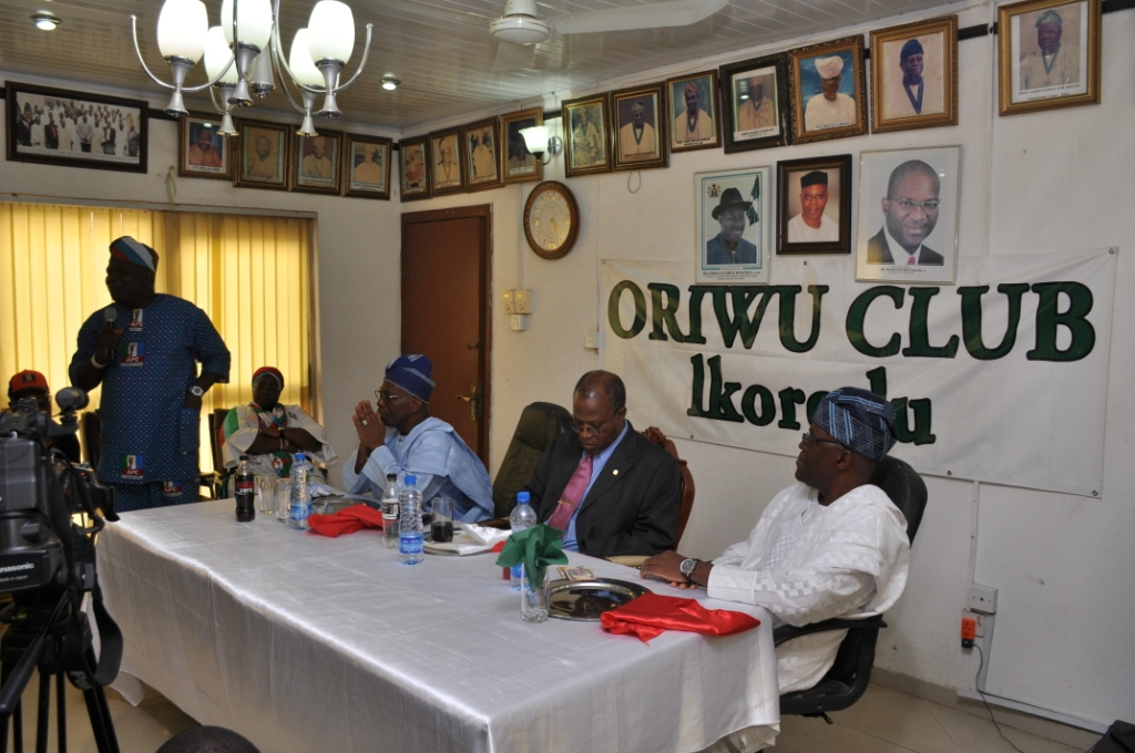Akinwunmi Ambode Hosted by the Oriwu Club