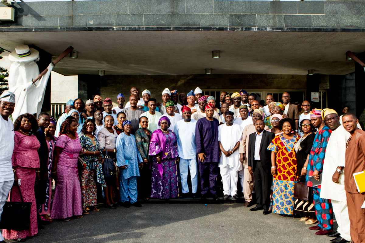 Ambode Meets Executive Secretaries of Local Government Councils/Local Council Development Areas