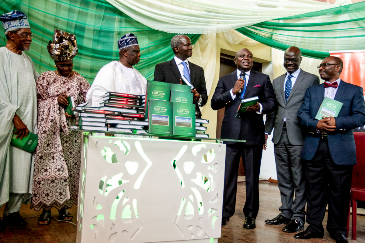 "Akinwunmi Ambode was a Special Guest of Honour at the launching of a book titled, ""Contemporary State Land Matters in Nigeria: The Case of Lagos State"", written by Alhaji Femi Okunnu(SAN)"
