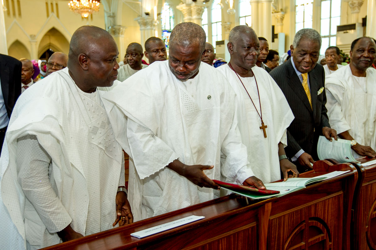 Akinwunmi Ambode at the Funeral Service for the mother of the Anglican Bishop of Lagos, Bishop Adebola Ademowo