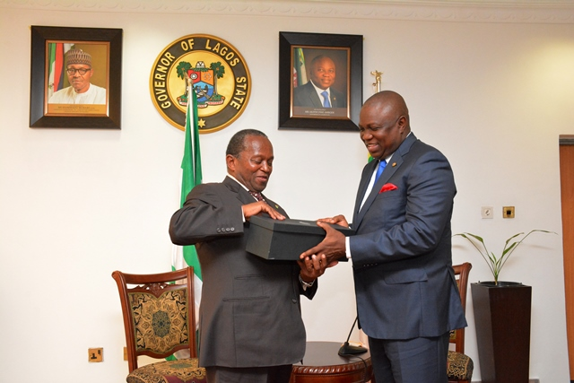 Gov. Ambode Receives South African Consulate General to Nigeria, Amb. Mokgethi Sam Monaisa