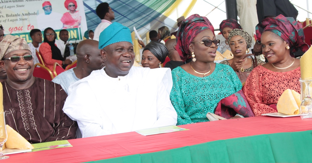 Governor Ambode and His Wife at 2015/1436AH Eid-el-Fitri Celebration