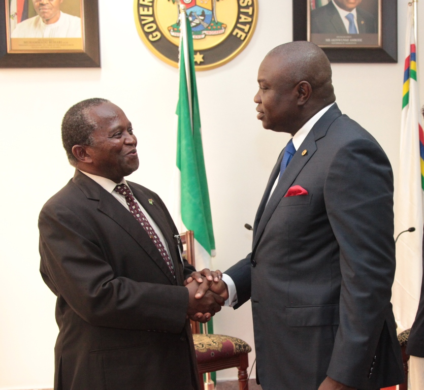 Governor Akinwunmi Ambode Receives South African Consulate General to Nigeria, Amb. Mokgethi Sam Monaisa