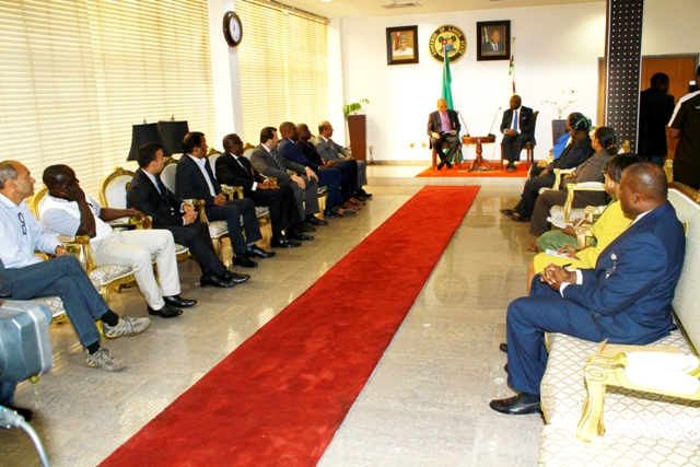 Governor Akinwunmi Ambode meeting with a team of investors from the United Arab Emirates, led by Professor Pat Utomi