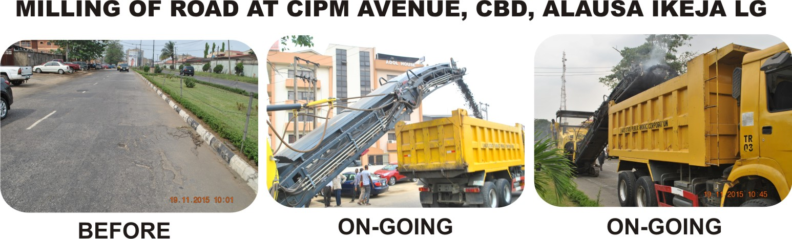 MILLING OF ROAD AT CIPM AVENUE, CBD, ALAUSA IKEJA LG