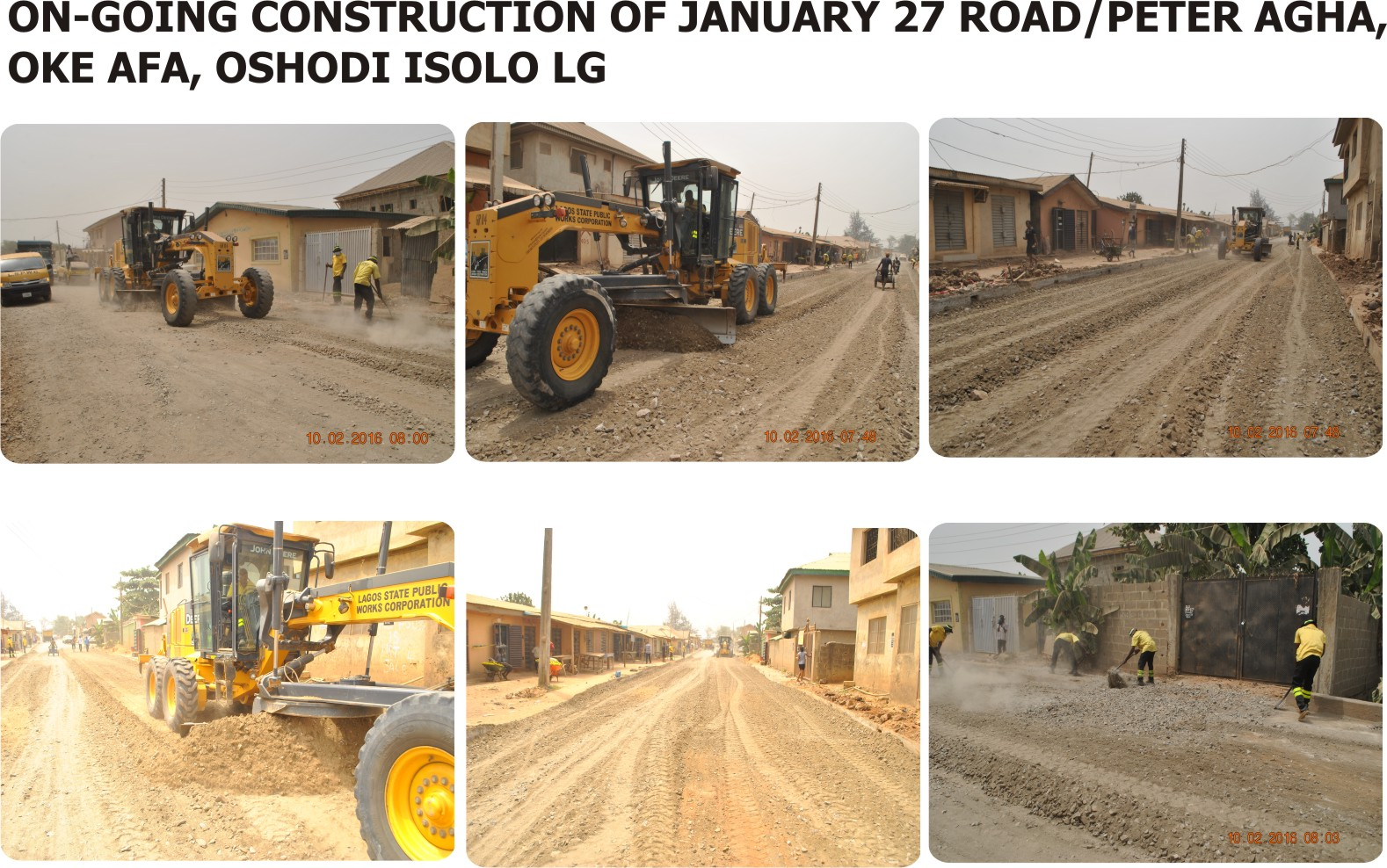 Lagos State Government Constructs January 27 Road