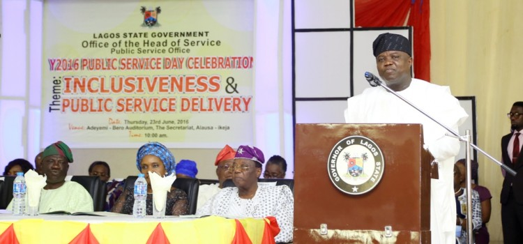Address Delivered By His Excellency, Mr. Akinwunmi Ambode, Governor Of Lagos State On The Occasion Of The 2016 Public Service Day Celebration At The Adeyemi Bero Auditorium, The Secretariat, Alausa, On Thursday, 23rd June, 2016