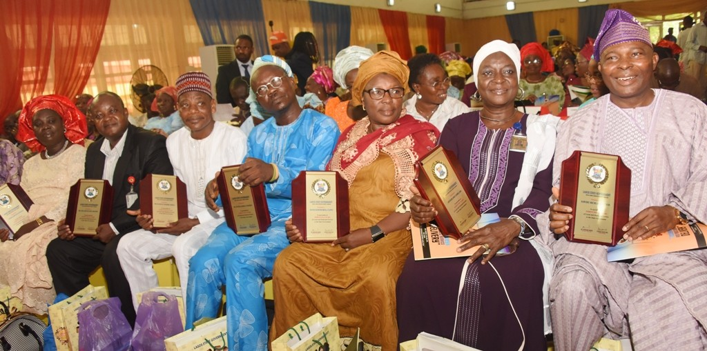 Cross section of the award recipients during the Long Service Merit Award as part of activities marking the Y2016 Public Service Day with the theme Inclusiveness and Public Service Delivery, at the Adeyemi Bero Auditorium, Alausa, Ikeja on Thursday, June 16, 2016.