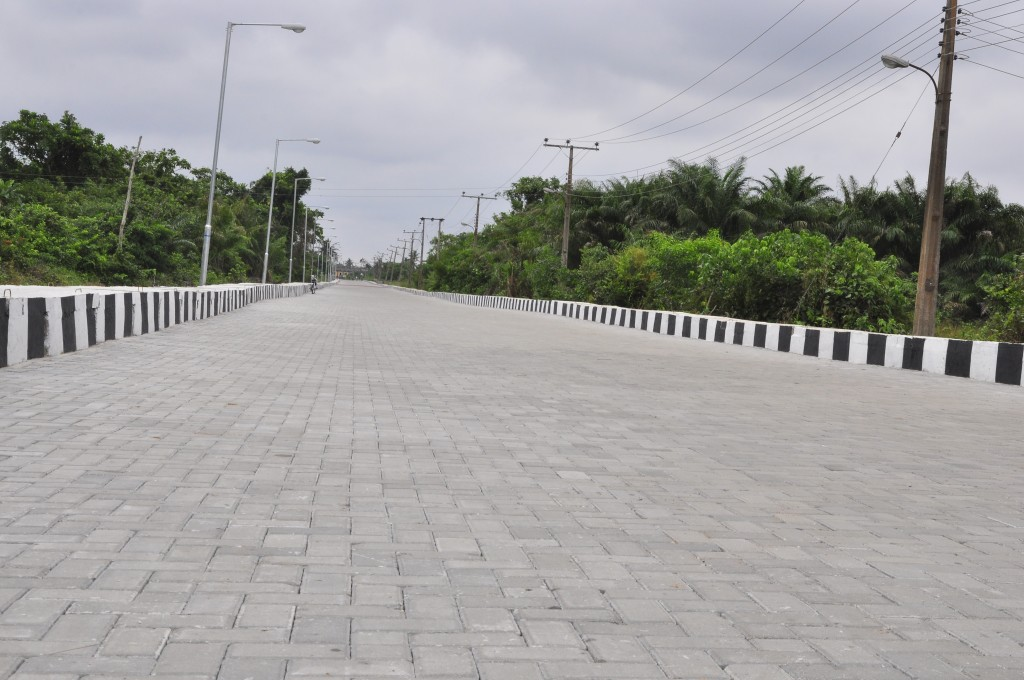 This is Kweme road in Badagry West LCDA, the new road is 685m long and 9m wide.