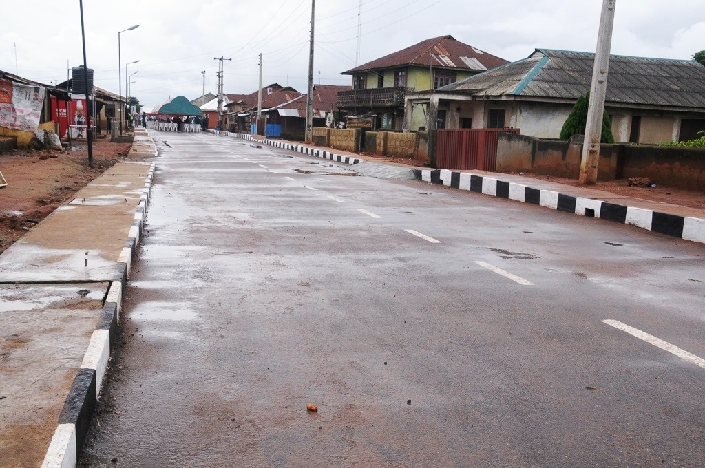 This is Hassan Odumeri Street, Ikosi-Ejirin Local Council Development Area. The new road is 400m long and 8m wide