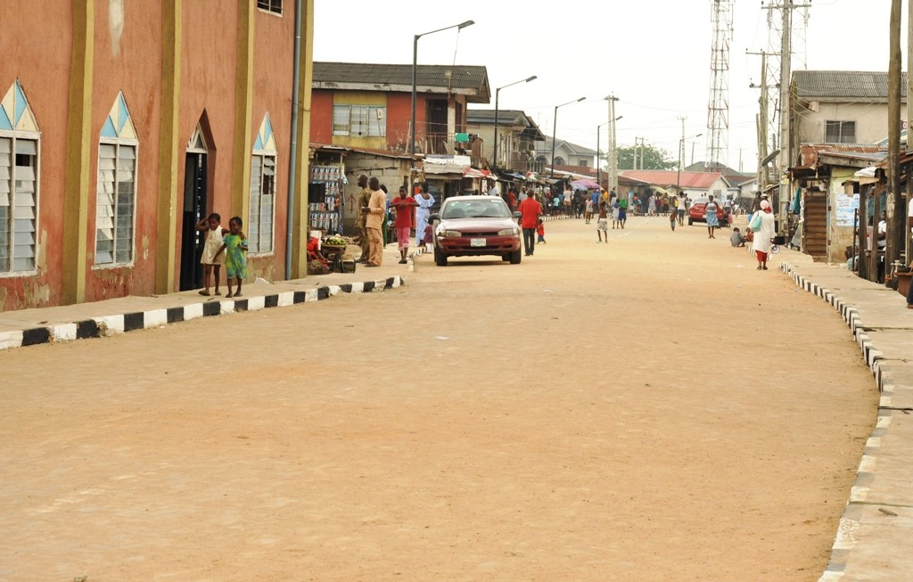 This is Zion Street, Agboyi-Ketu Local Council Development Area. The new road is 572m long and 9m wide.
