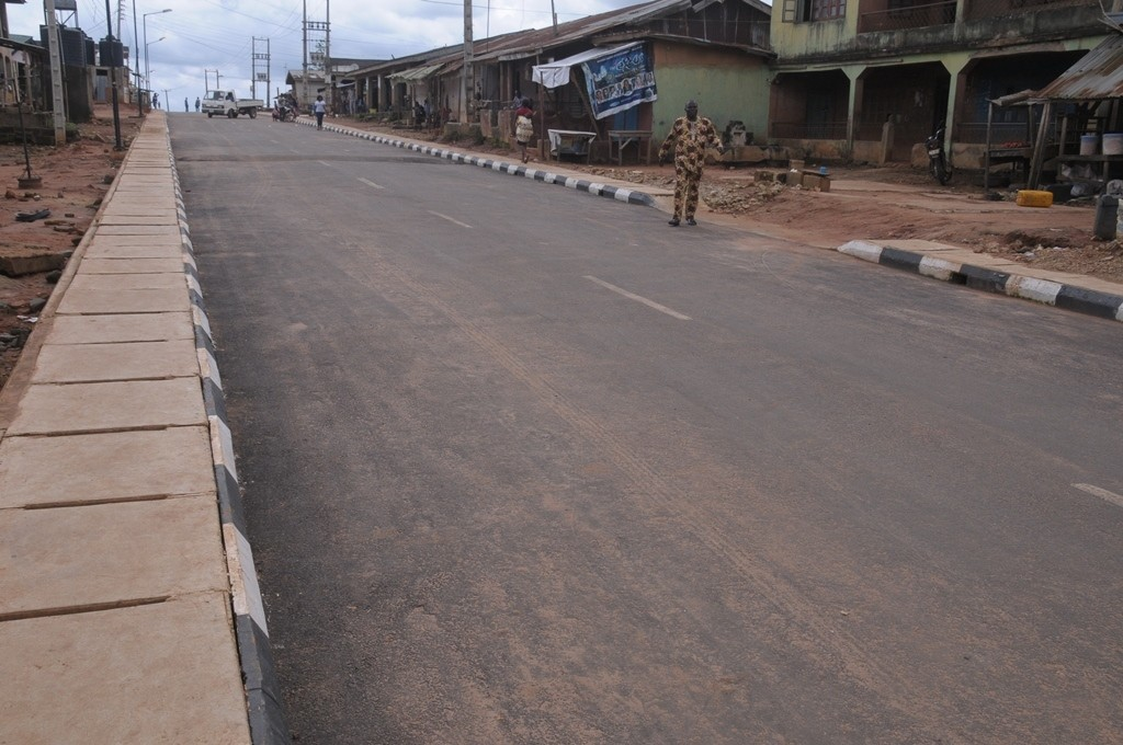his is Ajagbe Street in Ikosi-Ejirin Local Council Development Area. The new road is 500m long and 7.5m wide