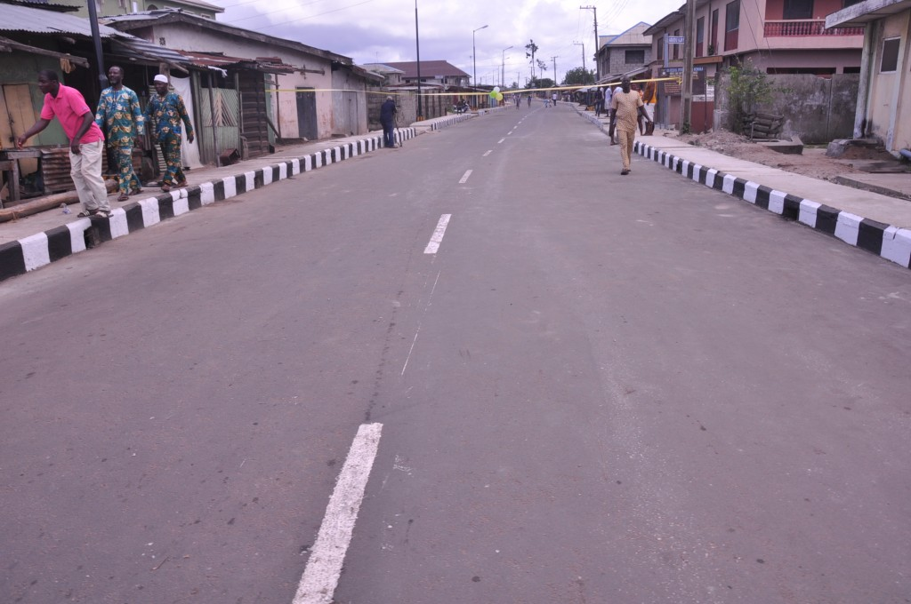 This is Hunwi Tande Road, Ajara Agamathen in Badagry Local Government. The new road is 472m long and 8m wide.