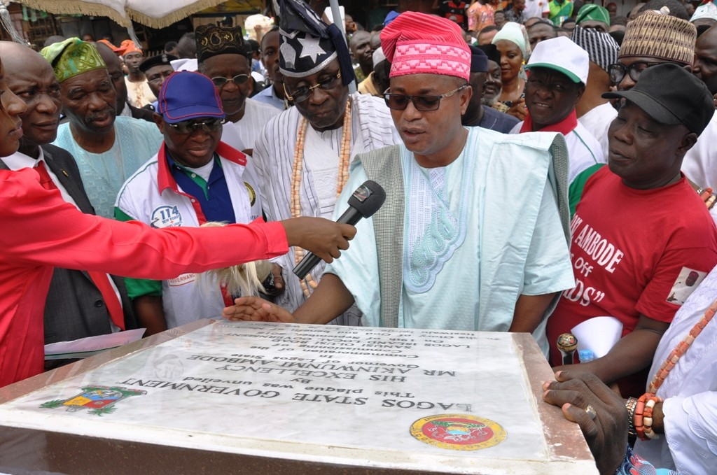 Newly constructed Sanusi Olusi Road in Lagos Island Local Government has been commissioned.