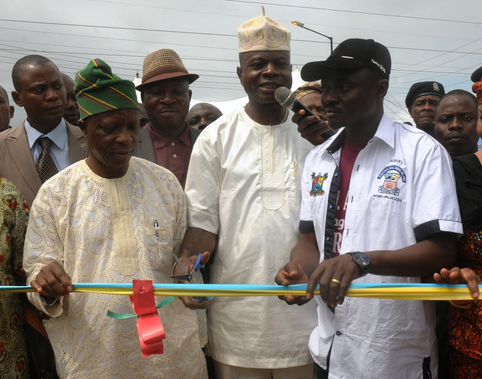 Newly constructed and commissioned road in Ajelanwa, Baruwa, Ayobo-Ipaja Local Council Development Area.
