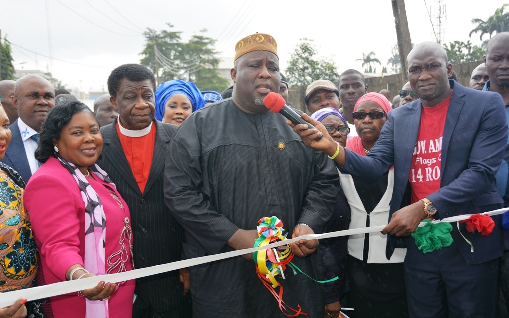 This is Olorunshola Street, Mosafejo, in Onigbongbo LCDA, the newly constructed road is 325 meters long and 6 meters wide
