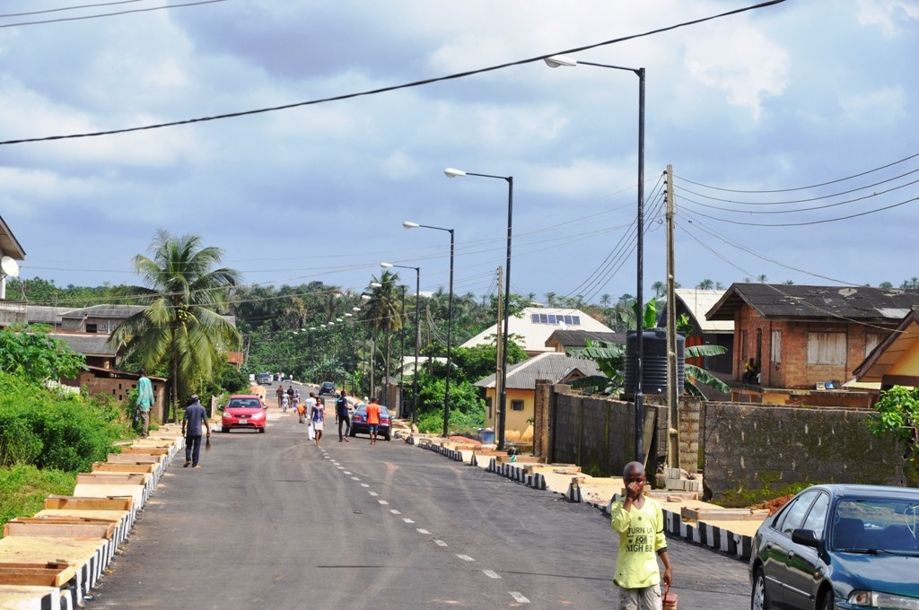 The newly constructed road in Ajijolaiya Street, Papa Epe, Epe Local Government is 610 meters in length and 8 meters in width.