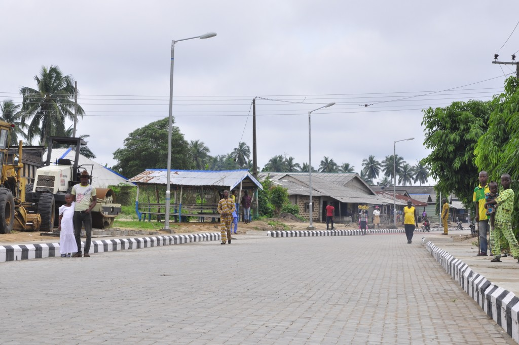 This is Apa Palace Road in Badagry West LCDA, the new road is 650m long and 9m wide.