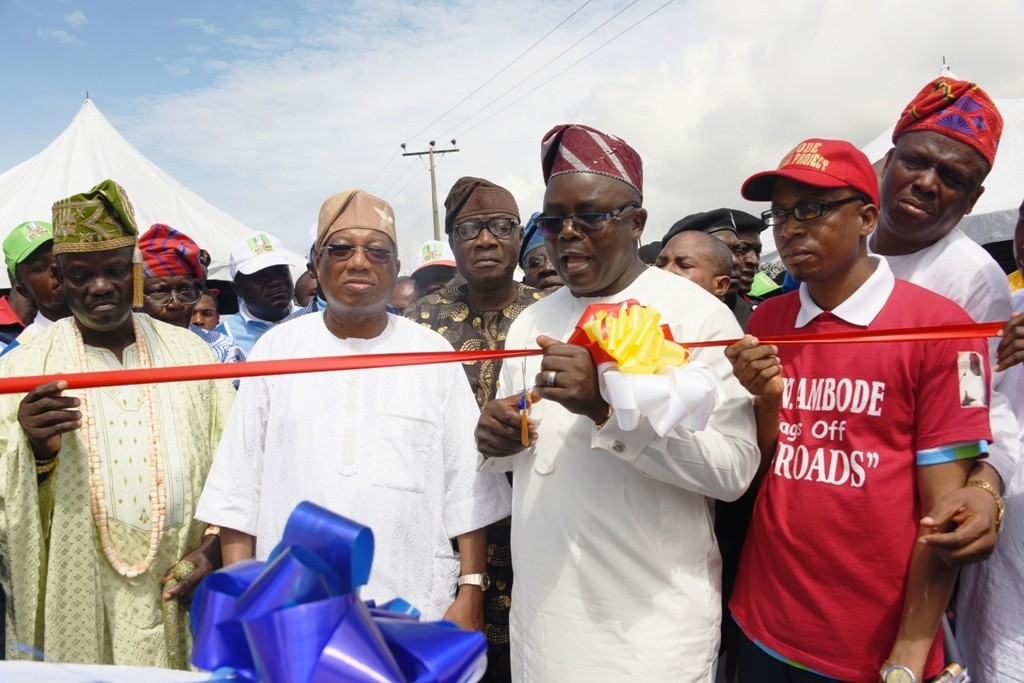 Newly constructed and commissioned Ojuoto/Ajegunle Road in Lekki Local Council Development Area.