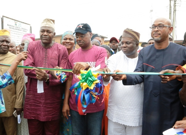 Newly constructed and commissioned Omoalade Street in Bariga Local Council Development Area.