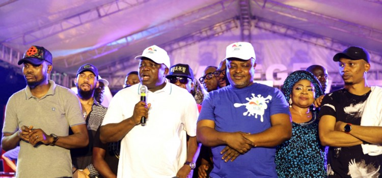 Pictures: Governor Ambode At the Opening of One Lagos Fiesta, Agege Stadium