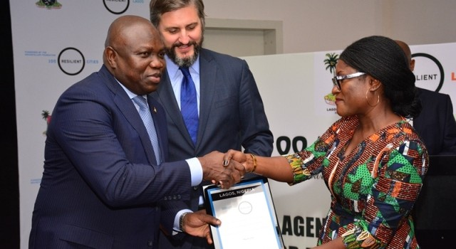 Lagos State Government Receives Certificate Admitting Lagos Into World's 100 Resilient Cities