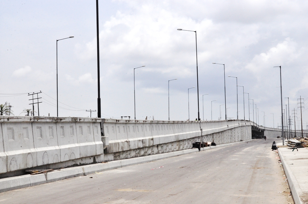 The Ajah Fly Over at Lekki-Epe Expressway nearing completion, being built by the Lagos State Government