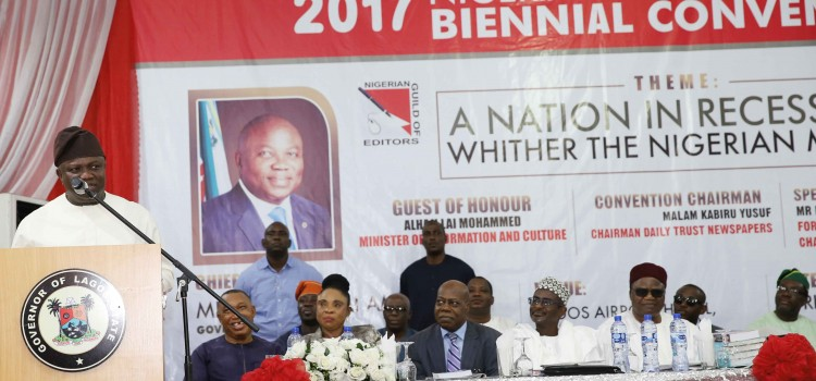 Address Delivered At The Opening Ceremony Of The Biennial Convention Of The Nigerian Guild Of Editors (NGE) Held On April 29th 2017 At Airport Hotel, Lagos