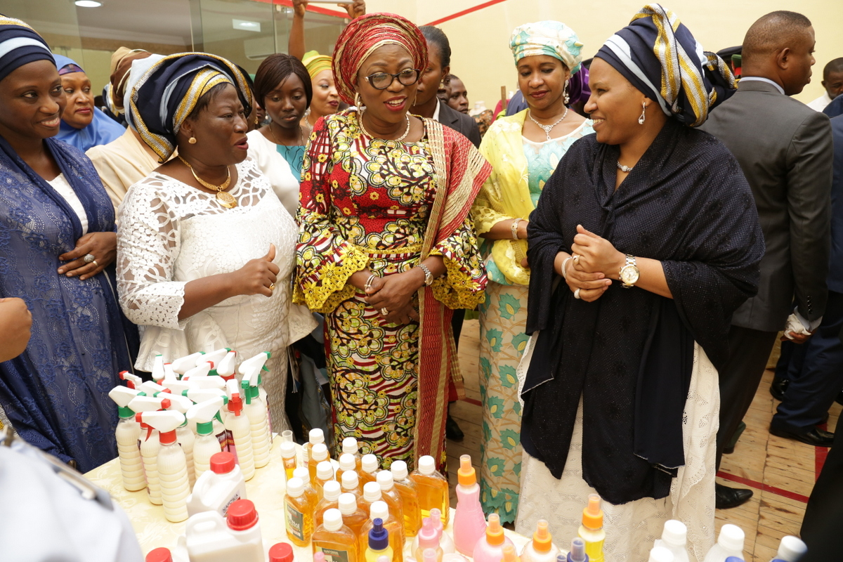 Exhibition Stand Staff Training : Pictures wife of lagos state governor mrs bolanle