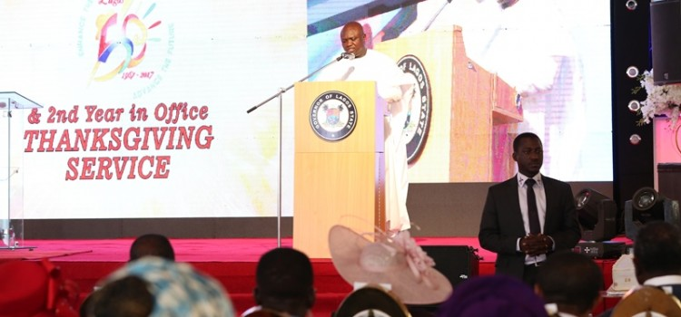 Address Delivered At The Thanksgiving Service In Commemoration Of Lagos @50 And 2nd Year Of The Akinwunmi Ambode's Administration