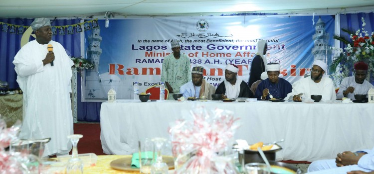 Governor Ambode  At The Tasfsir Ramadan, Held At Lagos House, Ikeja