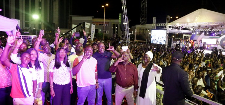 Pictures: Governor Akinwunmi Ambode At Lagos Golden Jubilee Concert