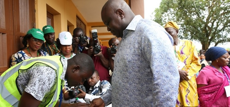 LG Polls: Governor Ambode Votes In Epe, Says Nigeria Must Deepen Democratic Values