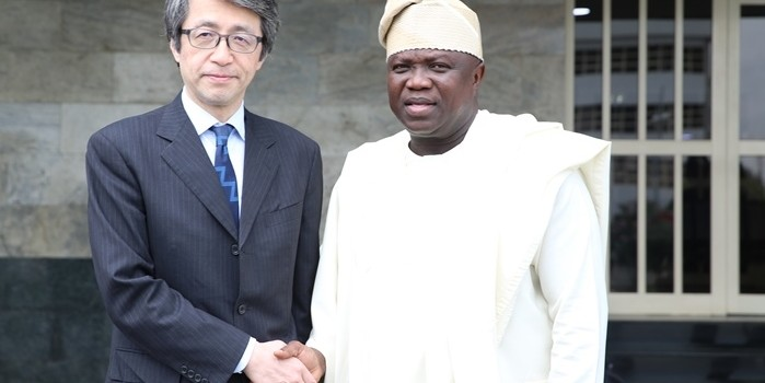 Pictures: The Ambassador of Japan To Nigeria, Mr. Sadanobu Kusaoke, Visits Lagos House, Alausa, Ikeja