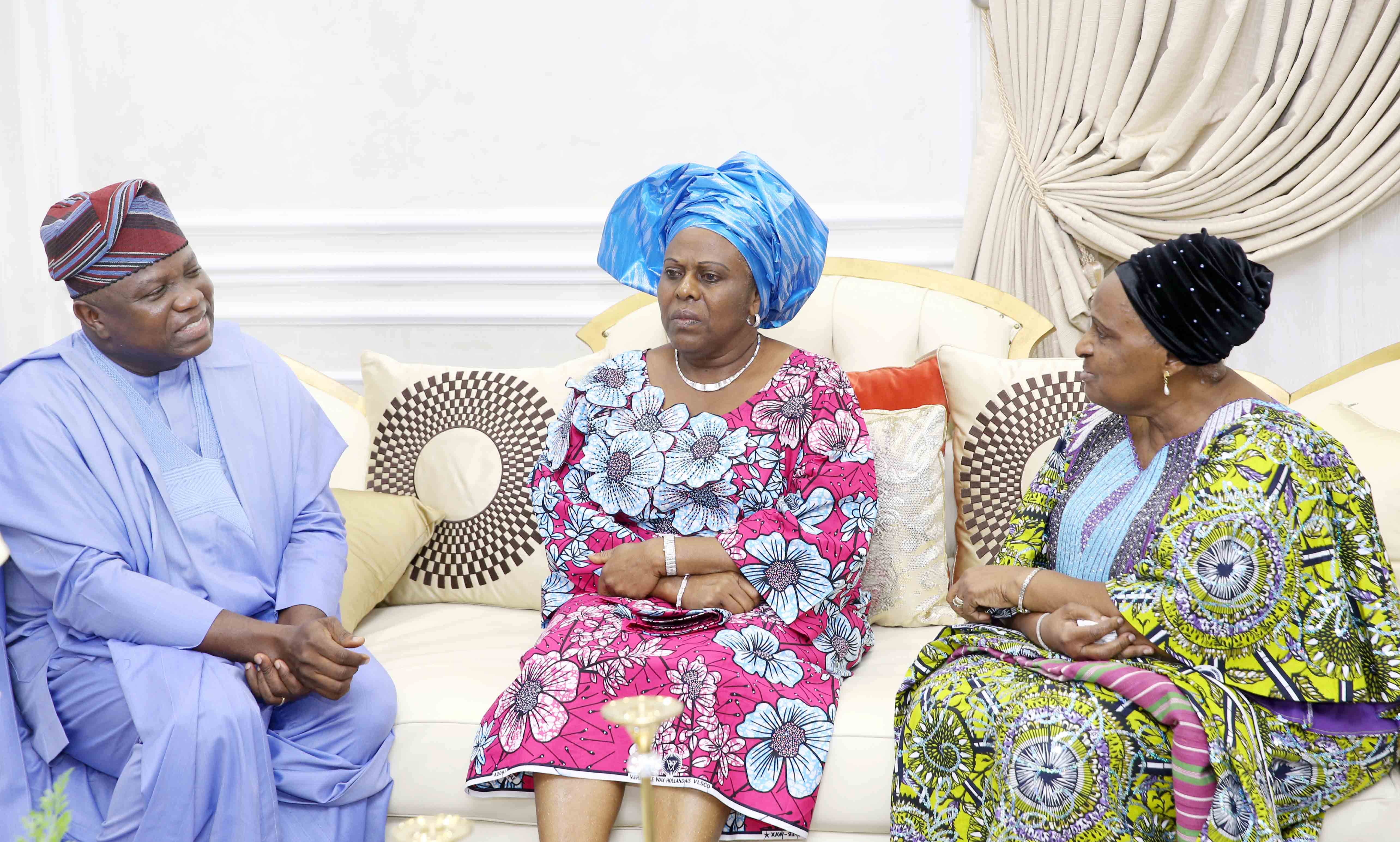 Lagos State Governor, Mr. Akinwunmi Ambode, with Ambassador Tokunbo Awolowo-Dosunmu and daughter of Chief Obafemi Awolowo, Mrs. Omotola Oyediran during their courtesy visit to the Governor at the Lagos House, Ikeja, on Tuesday, September 26, 2017.