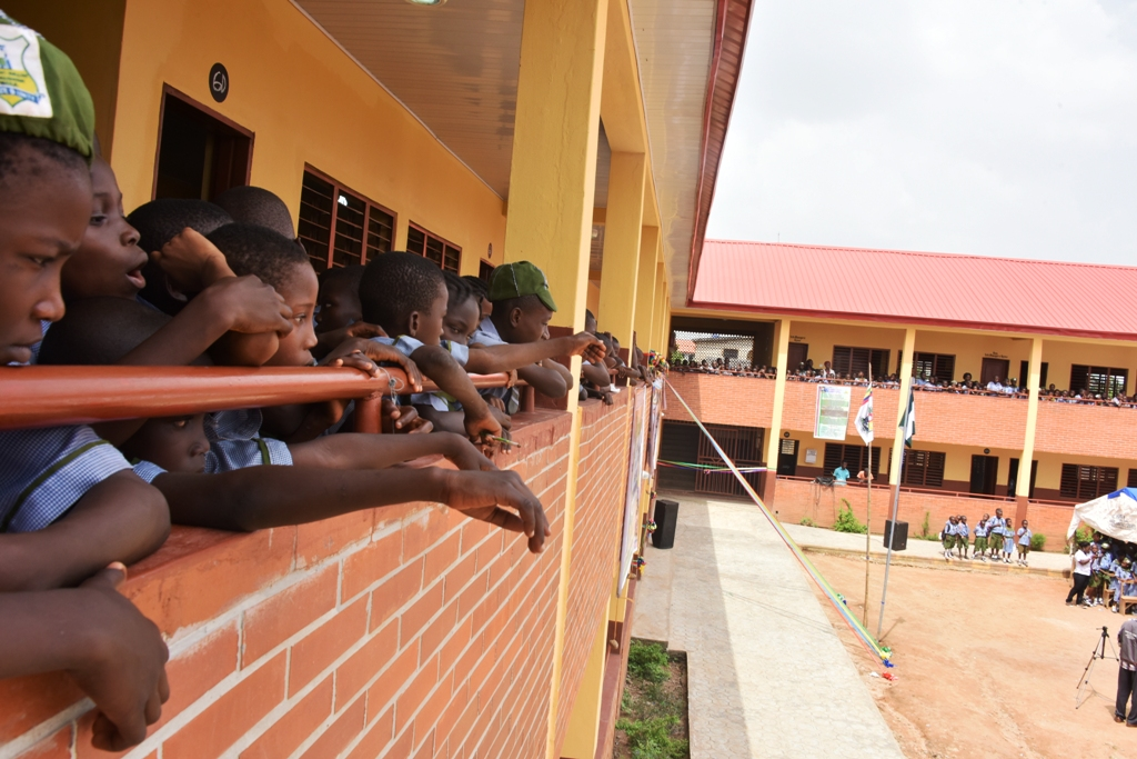 The newly commissioned 13 block of Classrooms at Community Primary School, Oke Ishagun, Alimosho, on Tuesday, November 7, 2017.