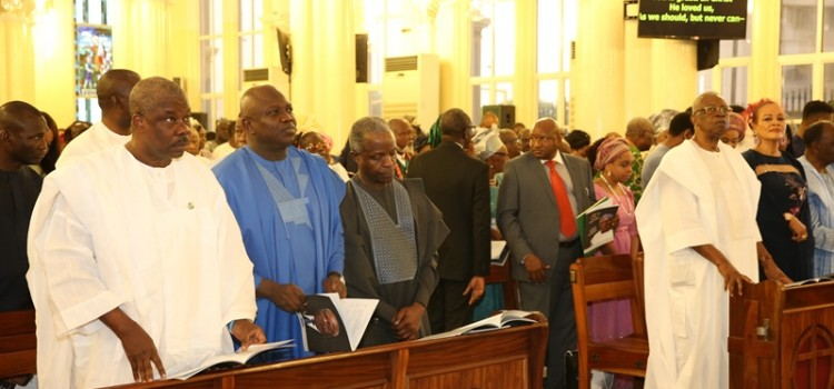 Pictures: Governor Ambode At Lt. General Theophilus Danjuma's (GCON) 80th Birthday Thanksgiving Service