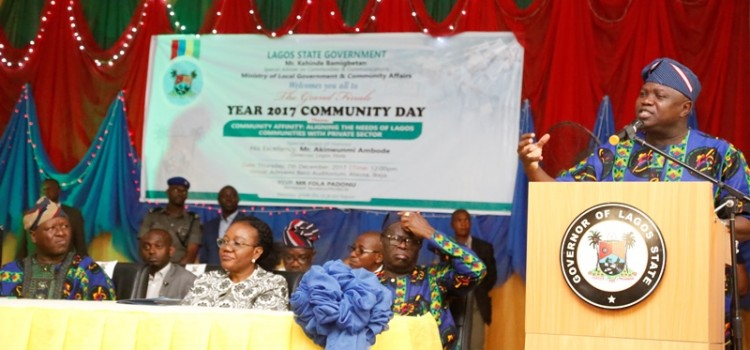 Address Delivered At The Community Day Celebration Held At The Adeyemi Bero Auditorium, Secretariat, Ikeja