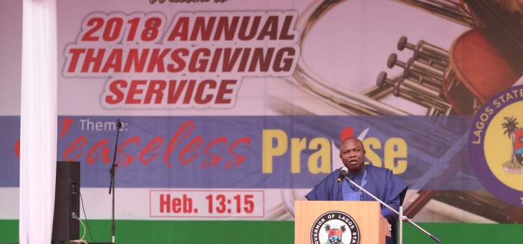 A Welcome Address Delivered At The 2018 Annual Thanksgiving Service Held At The Lagos House, Ikeja