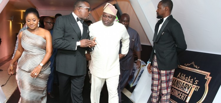 Pictures: Governor Ambode Attends Alibaba's January 1st Concert