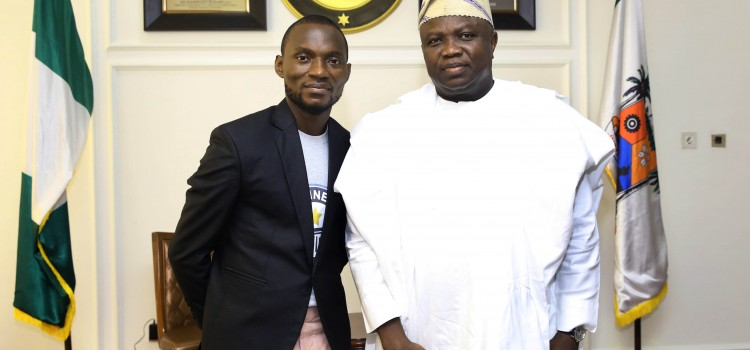 Governor Ambode Receives Nigerian World Record Holder In Longest Reading Marathon