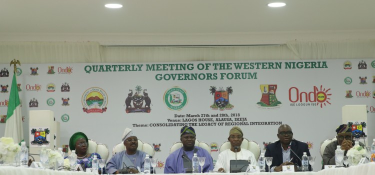Address Delivered At The Western Nigerian Governors' Forum Held At The Lagos House, Ikeja