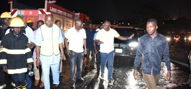 Governor Ambode Visits Tanker Accident Scene, Commends Emergency Responders