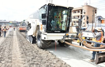 Airport Road: Contractor Speeds Up Work, Acquires New Recycler Machine