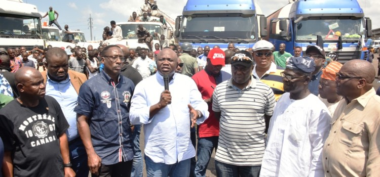 Apapa Congestion: Governor Ambode Flags Off Expansion Of Abat Truck Terminal In Orile