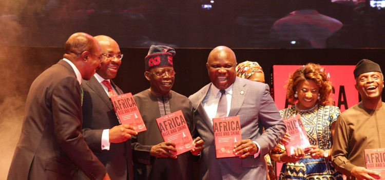 Pictures: Governor Ambode Attends Jim Ovia's Book Launch