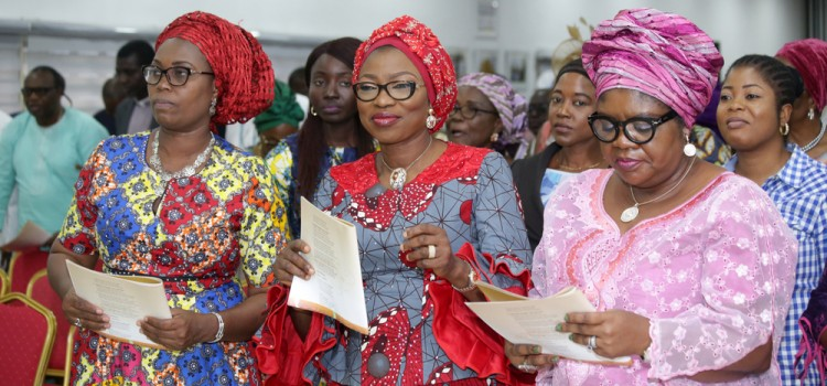 "Pictures: Mrs. Bolanle Ambode Attends A Special Song Ministration Programme Tagged, ""Hymnal Hour"", Held At Lagos House, Ikeja"