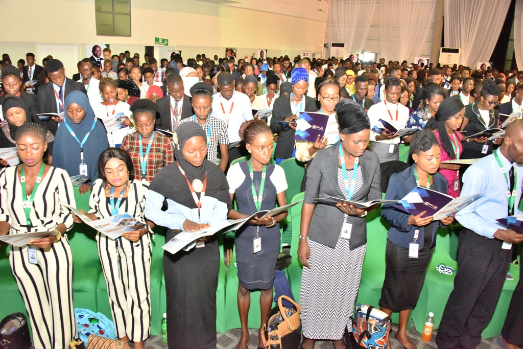 Cross section of graduating students of Ready Set Work 3.0 during their graduation ceremony at Landmark Event Centre, Victoria Island, on Tuesday, October 30, 2018.