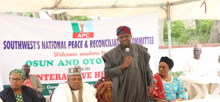 Pictures: Gov Ambode Attends APC Southwest's National Peace And Reconciliation Committee Interactive Hearing At Ibadan
