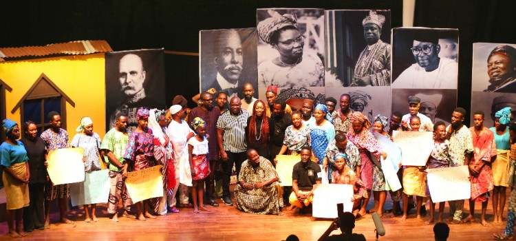 Pictures: Governor Ambode At The Stage Play, Oba Esugbayi